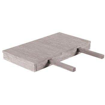 Allonge bois gris table 150 et 180 cm 50x60x10 ATLAGO