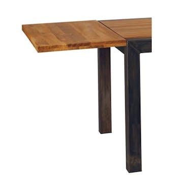 Allonge pour table chêne carrée 125cm 50x125x4 FERSCOTT