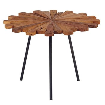 Table basse forme fleur Teck 70x52 MARRAKECH