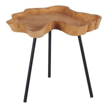 Table basse teck et métal 45x50 ARIZONA