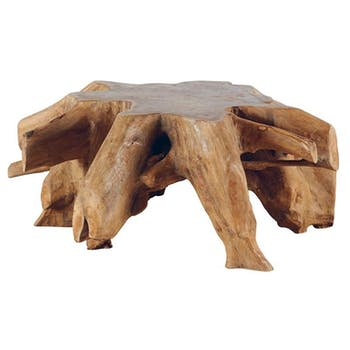 Table basse ronde nature teck 110x45 ARIZONA