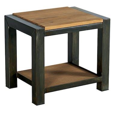 Table de chevet bois métal double plateau FERSCOTT