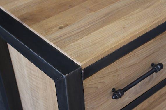 Table mange debout chêne et métal 150cm FERSCOTT