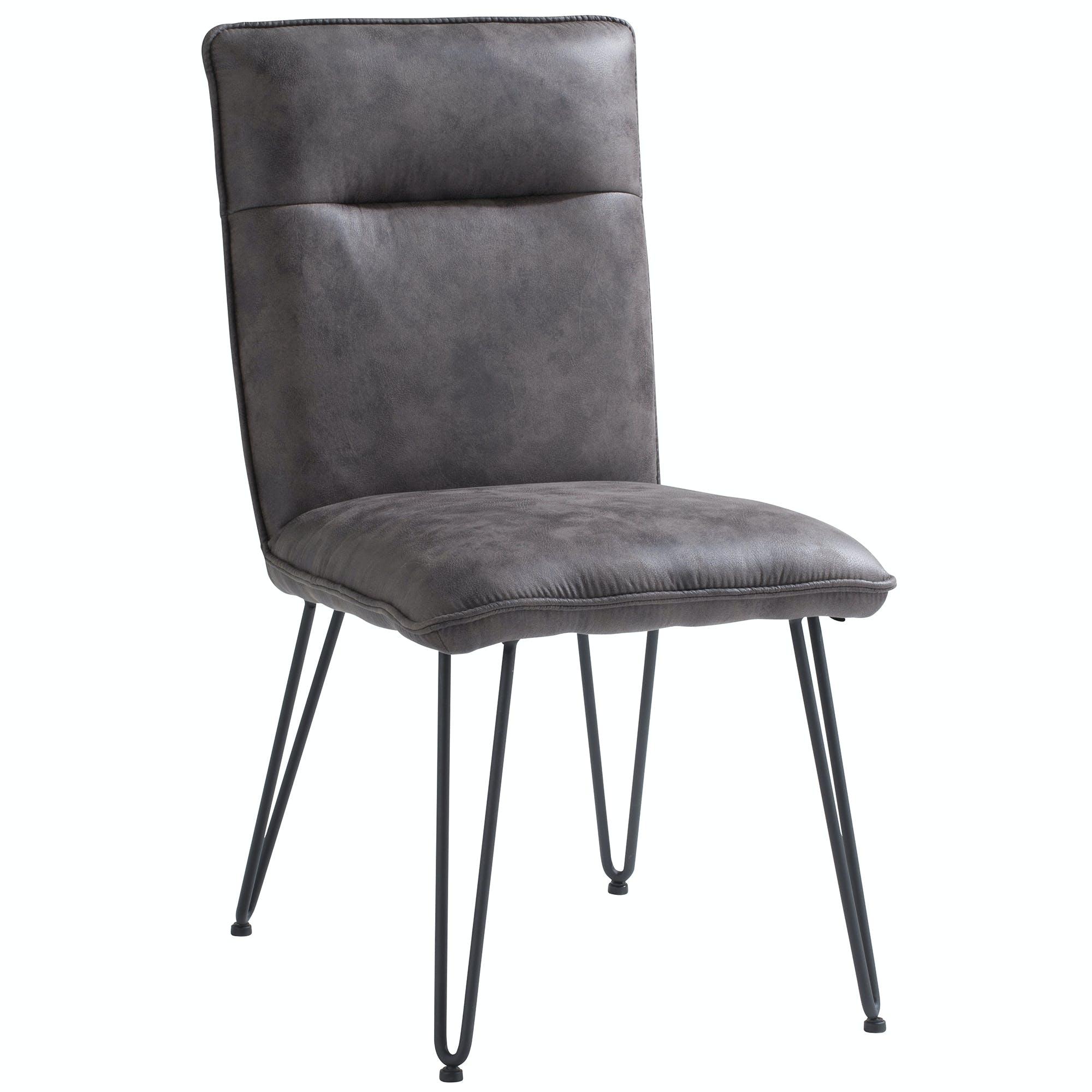 Chaise grise capitonnée salle à manger
