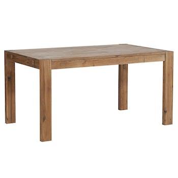 Table repas chêne huilé rectangulaire 180cm VALLEY