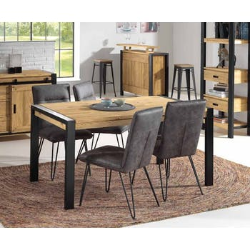 Table à manger rectangulaire bois de pin massif 160 LOUNDGE