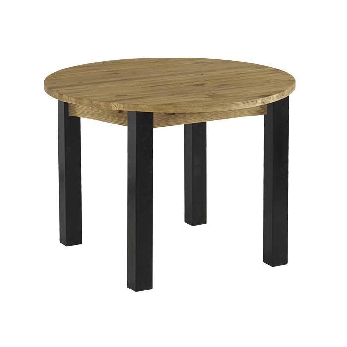 Table à manger ronde bois massif 110-160 LOUNDGE (avec 1 allonge)
