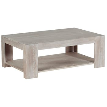 Table basse rectangulaire chêne blanchi 110cm CHICSEA