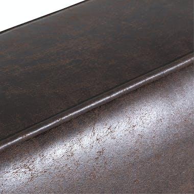 Fauteuil microfibres chocolat pieds en fer vieilli ANDY