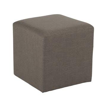 Pouf cube tissu havane STONE