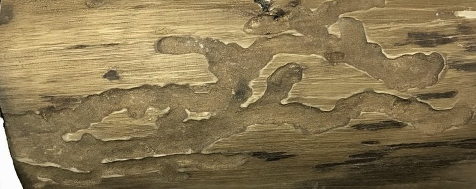 Banc facon bûche en bois et pieds métal 106x45x46cm CANADA