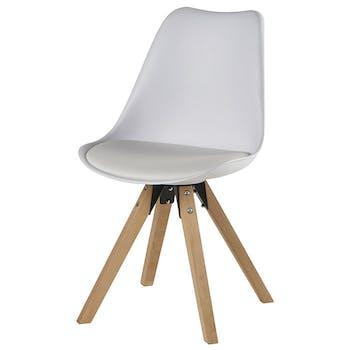 Chaise scandinave blanche TONY (lot de 2)