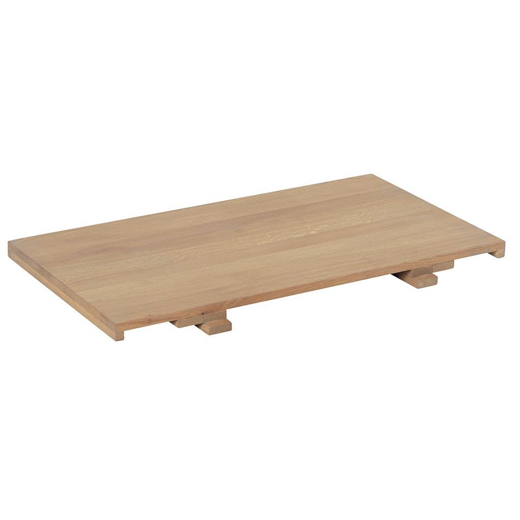 Allonge 50cm pour table CUBA 180cm Chêne massif ciré 50x90cm CUBA