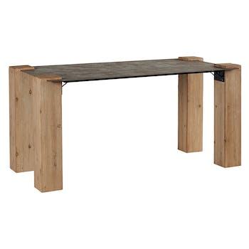 Table à manger rectangulaire industrielle nordique 185 ACTUS