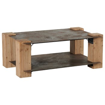 Table basse industrielle nordique version 1 ACTUS