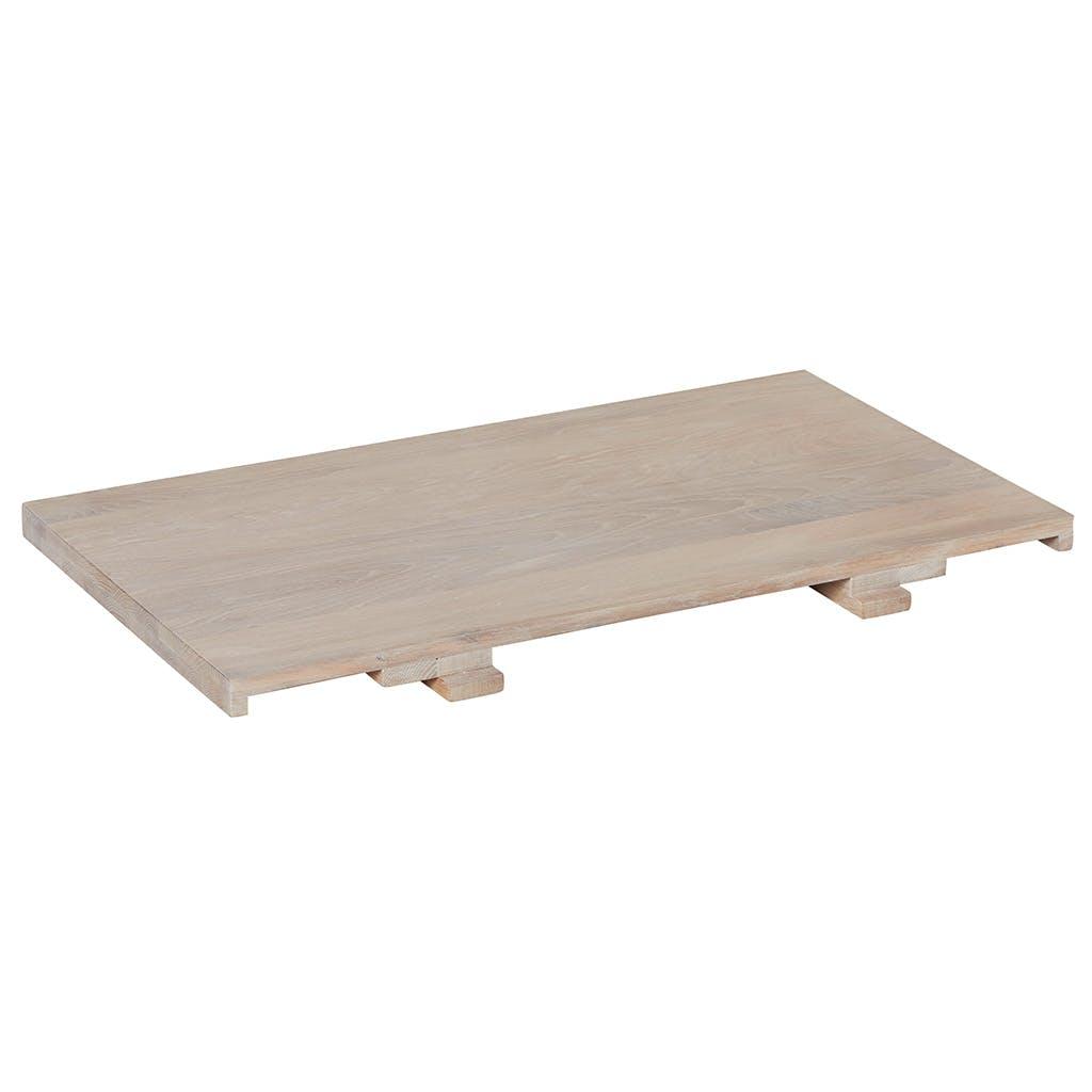 Allonge 50cm pour table MANILLE 180 Chêne massif ciré blanchi 50x90cm MANILLE
