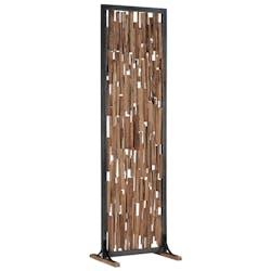 Séparation en bois d'hibiscus et armature métal 62xH207m