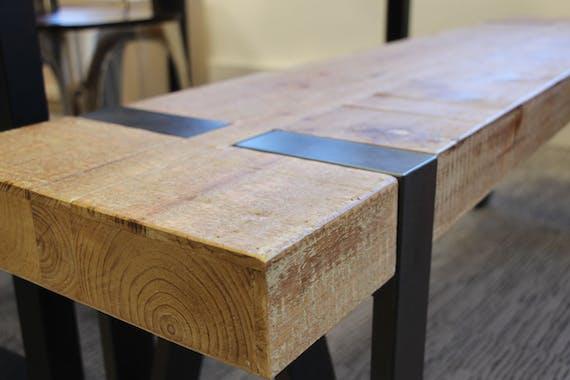 Console bois massif métal EPIKA