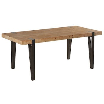 Table à manger rectangulaire bois massif 185 EPIKA