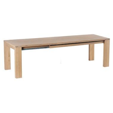 Table de repas extensible Chêne ciré 180/260x90x76cm CUBA