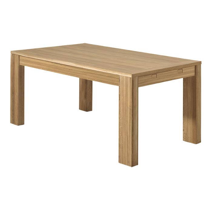 Table de Repas bois naturel en Chêne massif 160x90x77cm MALMOE