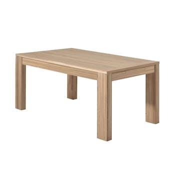 Table de Repas bois naturel Chêne massif 160x90x77cm MALMOE2