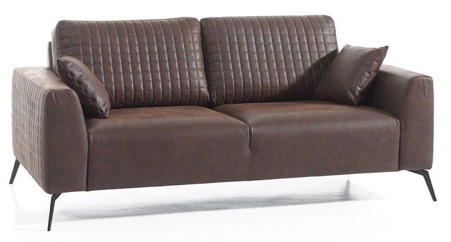Canapé droit 3 places marron havane Chester