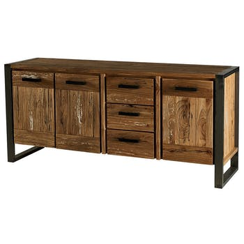 Buffet bois massif contemporain OUDONG