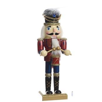 Décoration de noël Soldat en bois doré 25cm