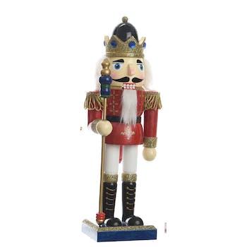 Décoration de noël Soldat en bois bleu 25cm