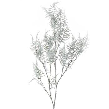 Branche asperge vert finition neige H100cm