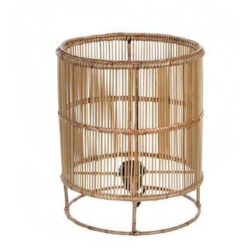 Lampe Cylindre en métal filaire ajouré couleur naturelle D25xH30cm
