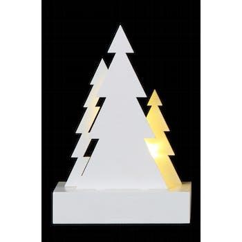 "Figurine de noël ""Sapin"" à LED 10x5x15cm"