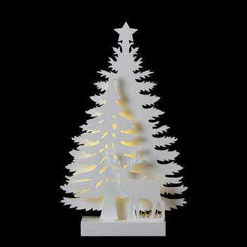 "Décoration de noël ""Sapins"" à LED 21x35cm"