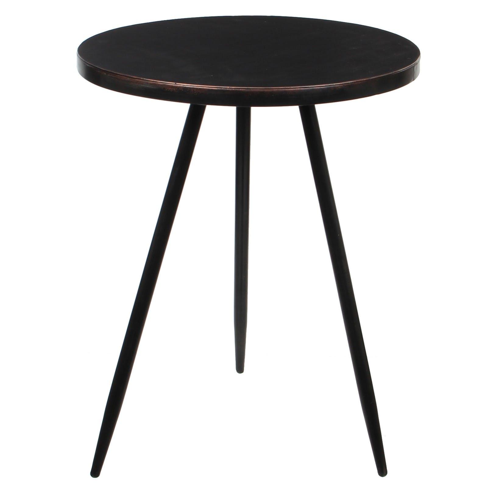 Table d'appoint noire 51,5 cm