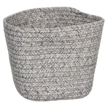 Panier lombock carré gris 18 cm