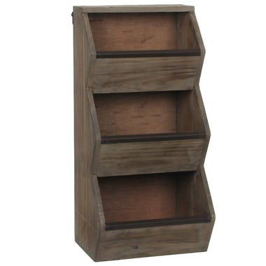Petit meuble de rangement bois marron 50 cm
