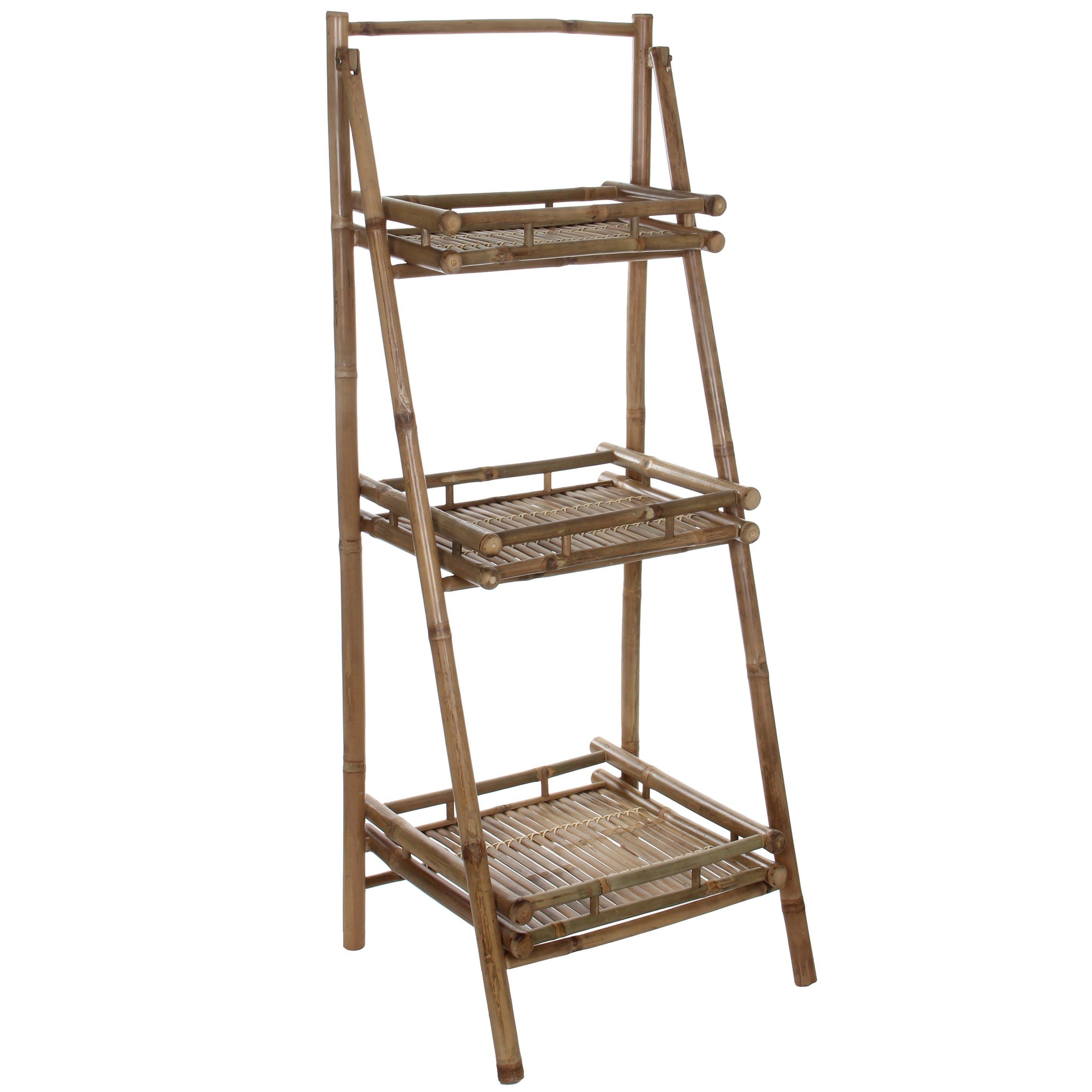 Meuble escalier 3 ètages en bambou 145 cm