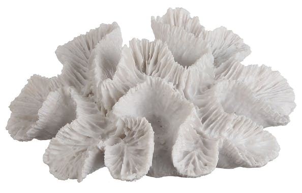 Corail de décoration blanc 16 cm