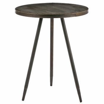Table d'appoint ronde laiton 51,5 cm