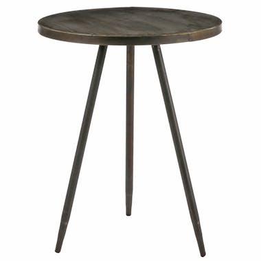 Table d'appoint ronde laiton 51,5 cm