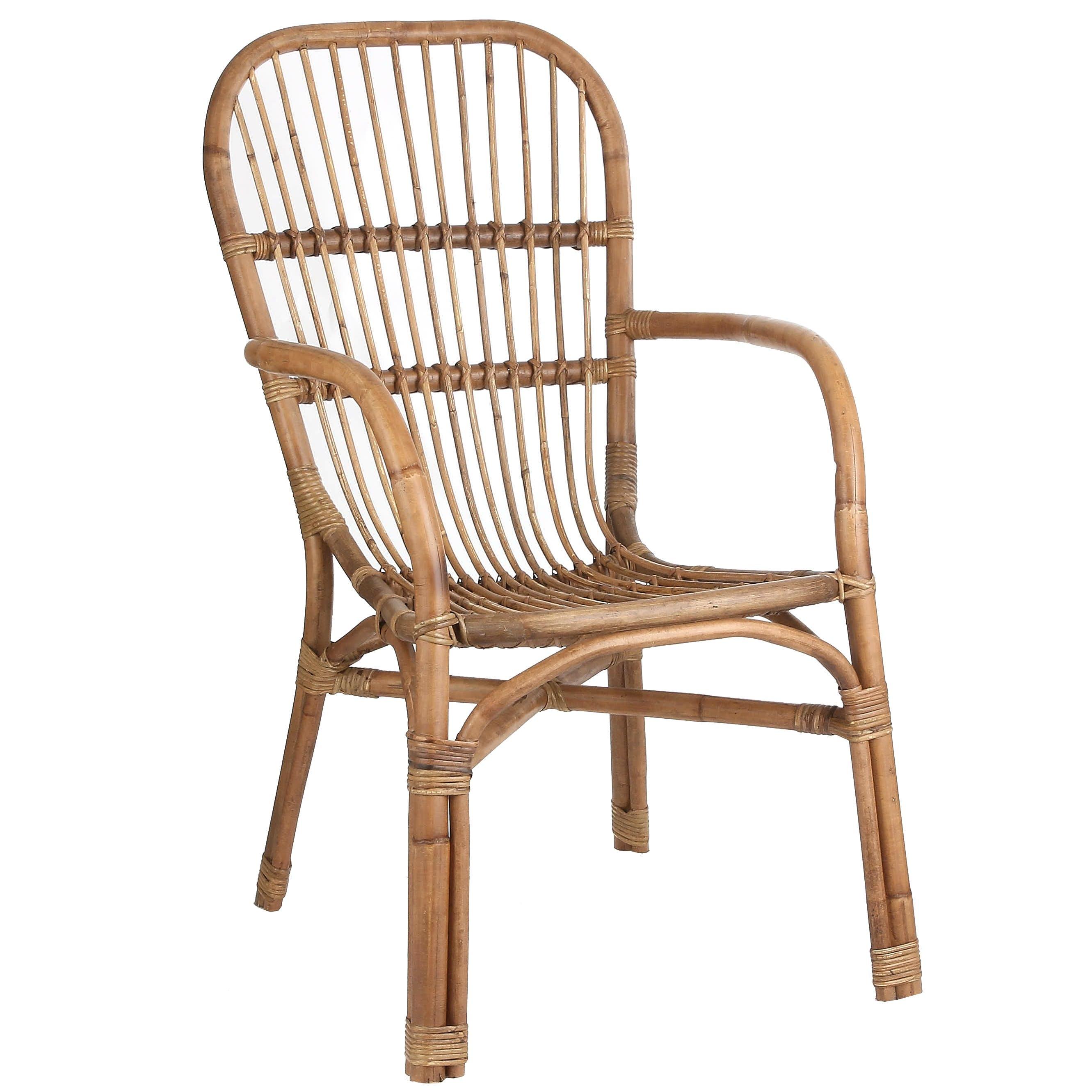 Chaise fauteuil en rotin naturel