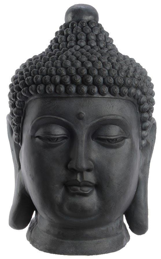 Tête de Bouddha gris 60 cm