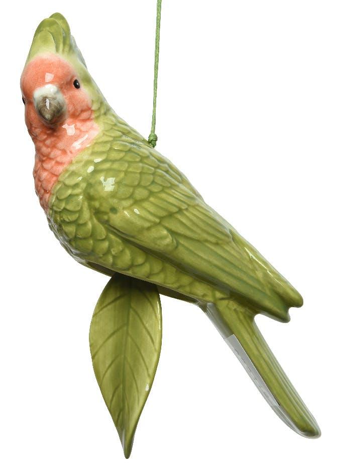 Carillon perroquet et feuille en dolomite