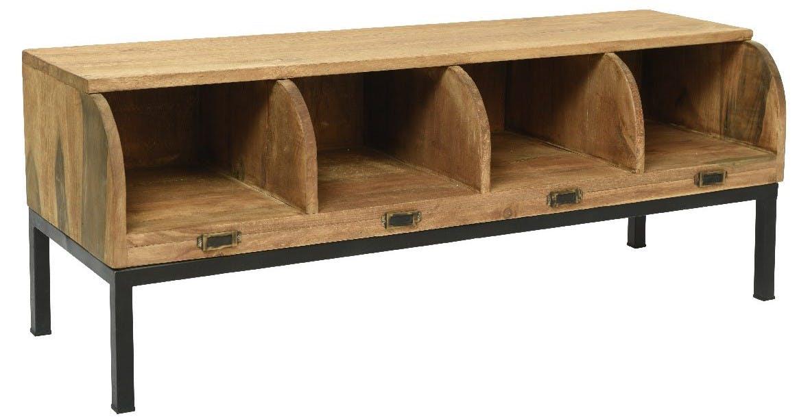 Meuble de rangement bois recyclé 120 cm OMSK