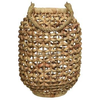 Lanterne en jacinthe d'eau H33cm
