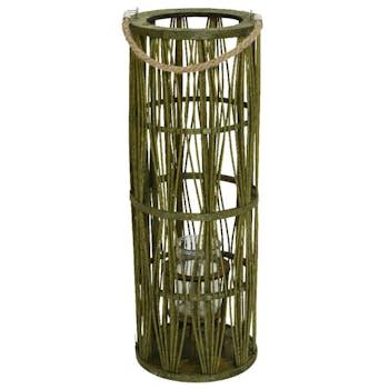 Lanterne papier vert H70cm