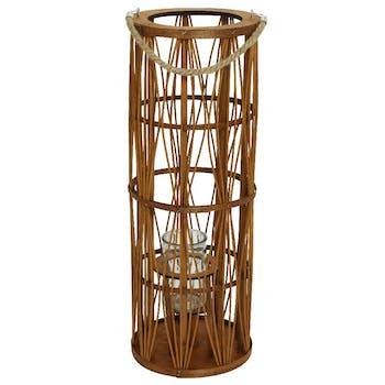 Lanterne papier marron H70cm