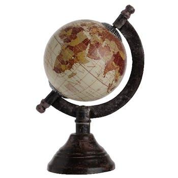 Globe vintage camel beige H16cm
