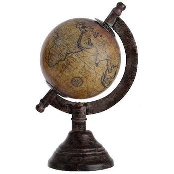 Globe vintage camel marron H16cm